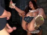 Busty Hotie Ruri Saijo Gets Raped By 2 Guys In a Dark Alley