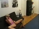 Stepson Caught Stepmom Masturbaing While Talking With His Dad