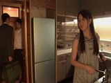 Sexy MILF Housewife Sakuragi Yuki Gets Swooped In The Kitchen By Husbands Best Friend