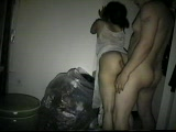 Latina Wife Fucked By Neighbor In Garage While Trowing Out Garbage