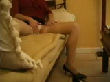 Hidden Cam Taped Nanny Masturbating At Sofa