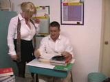 Busty Teacher Kandi Cox Fucks Bad Student In the Classroom