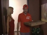 Pizza Delivery Guy Got Something Way Much Better That Tip From Busty Blonde Housewife