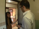 Young Japanese Wife Gets Surprised Finding Her Neighbor In Her Bathroom