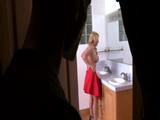 Pervert Guy Uses Chance To Spy Friends Milf Mom In Bathroom
