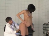 Pregnant Brunette Woman Gets Fucked by Doctor on Gyno Exam